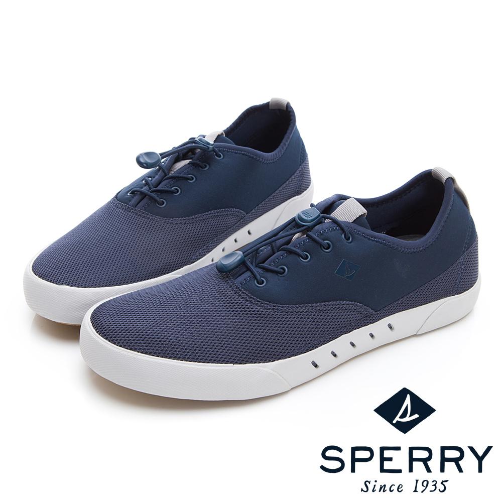 SPERRY 7SEAS 俐落抽繩鞋帶設計休閒鞋(男款)-深藍