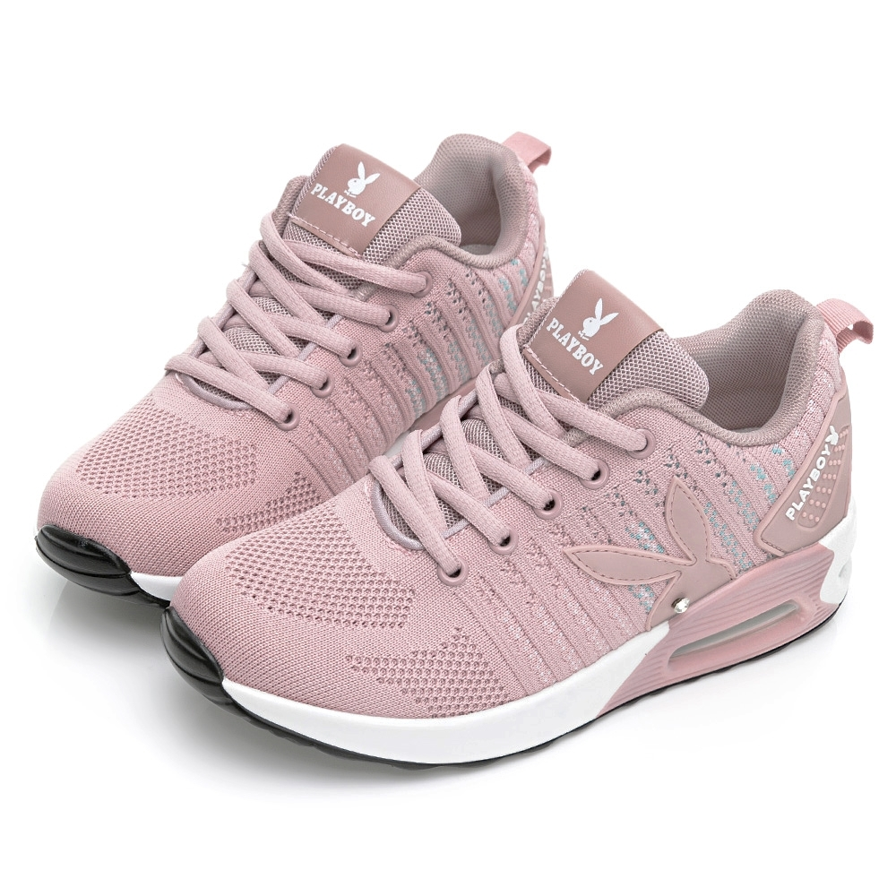 PLAYBOY Fashion focus輕盈氣墊休閒鞋-粉-Y723999
