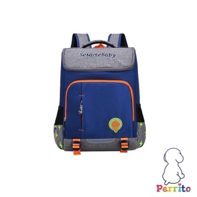 Perrito「閃電學園」太空核心護脊兒童書包 (藍色)