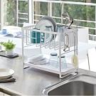 日本YAMAZAKI-tower雙層瀝水架(白)★居家收納/廚房瀝水/餐具收納