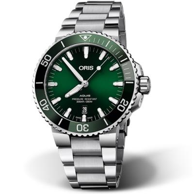 Oris豪利時AQUIS潛水機械錶(0173377304157-0782405PEB)-綠