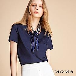 MOMA 圓領袋蓋設計上衣