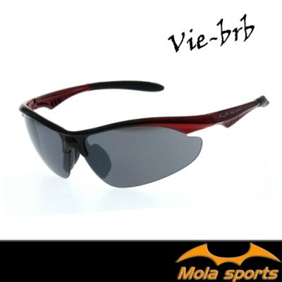 MOLA摩拉品牌運動太陽眼鏡 男女  UV400 灰鏡片 單車 休閒 Vie-brb