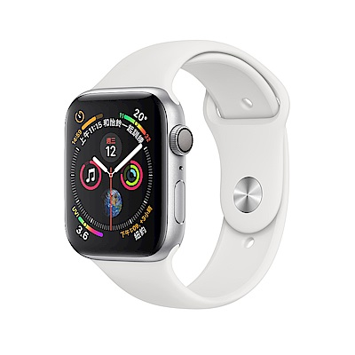 Apple Watch Series 4 GPS 40mm 銀色鋁金屬錶殼白色運動型錶帶