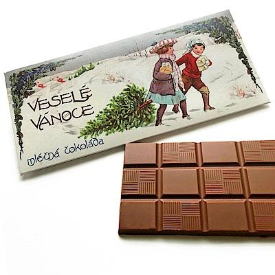 捷克 波西米亞禮讚 牛奶巧克力-聖誕快樂(100g)