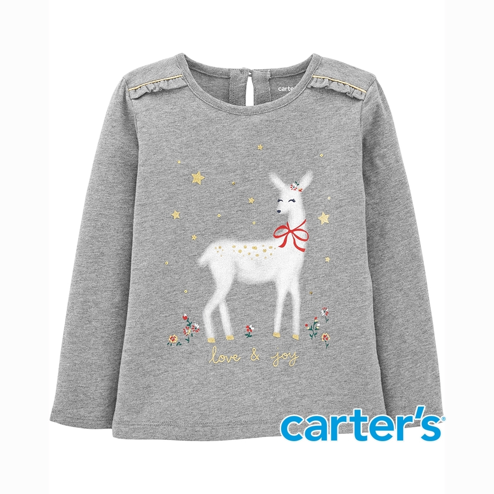 【Carter's】幸福的微笑麋鹿長袖上衣(2T-5T) (台灣總代理)