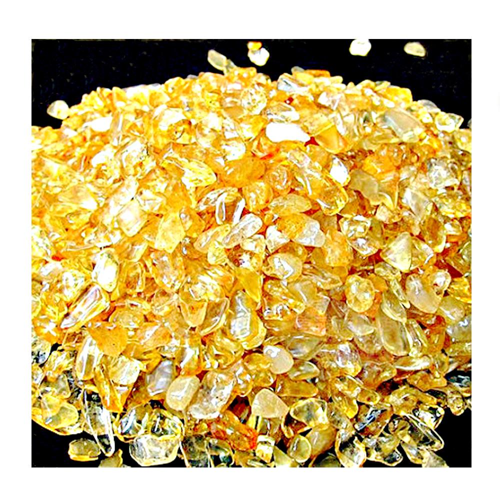 紅運當家 清透黃 招財黃水晶碎石(淨重1公斤.粗顆粒)
