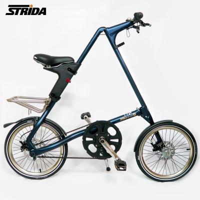 STRiDA速立達 18吋內變3速EVO版碟剎折疊單車/三角形單車-霧藍色