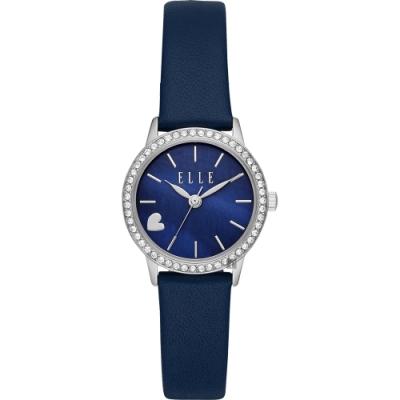 ELLE Alma系列愛上妳時尚女錶-珍珠貝x藍/28mm ELL21031