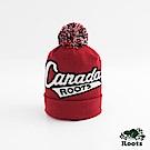 Roots配件- 加拿大系列毛球針織帽-紅