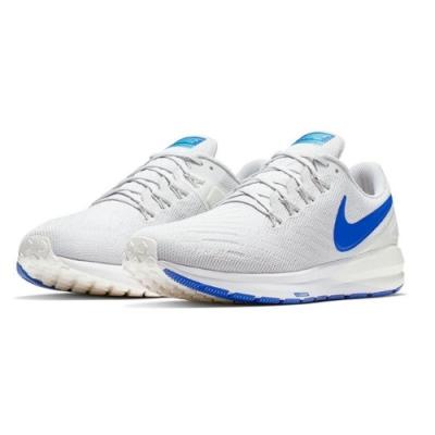 NIKE Zoom Structure 男慢跑鞋 白藍-AA1636007