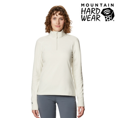 【美國 Mountain Hardwear】Microchill 2.0 Zip T-Shirt 保暖長袖排汗衣 女款 石灰 #1677371