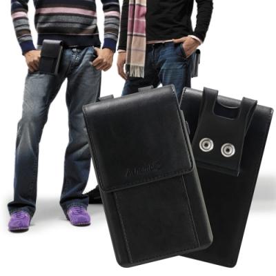 Achamber 小米 10/小米 10 Pro 酷炫通用型腰掛皮套-可裝兩支手機
