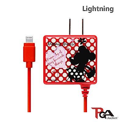 PGA  迪士尼 Lightning 方形 剪影米妮 AC充電器