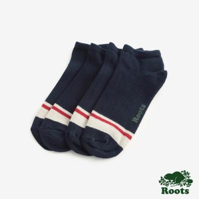 Roots配件- 經典彩色短襪 (男)-藍色