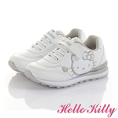 HelloKitty童鞋 小白鞋-減壓抗菌防臭慢跑鞋-白
