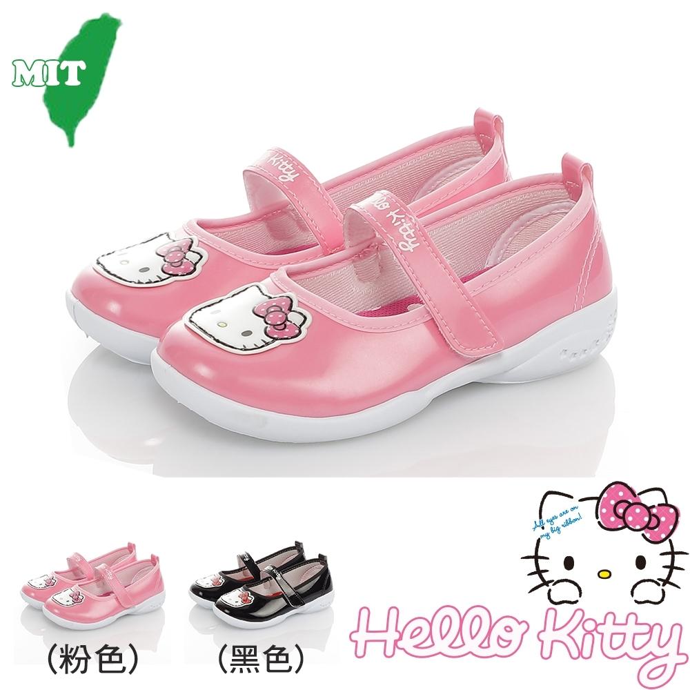 HelloKitty童鞋 輕量減壓抗菌防臭幼稚園室內外鞋-粉.黑