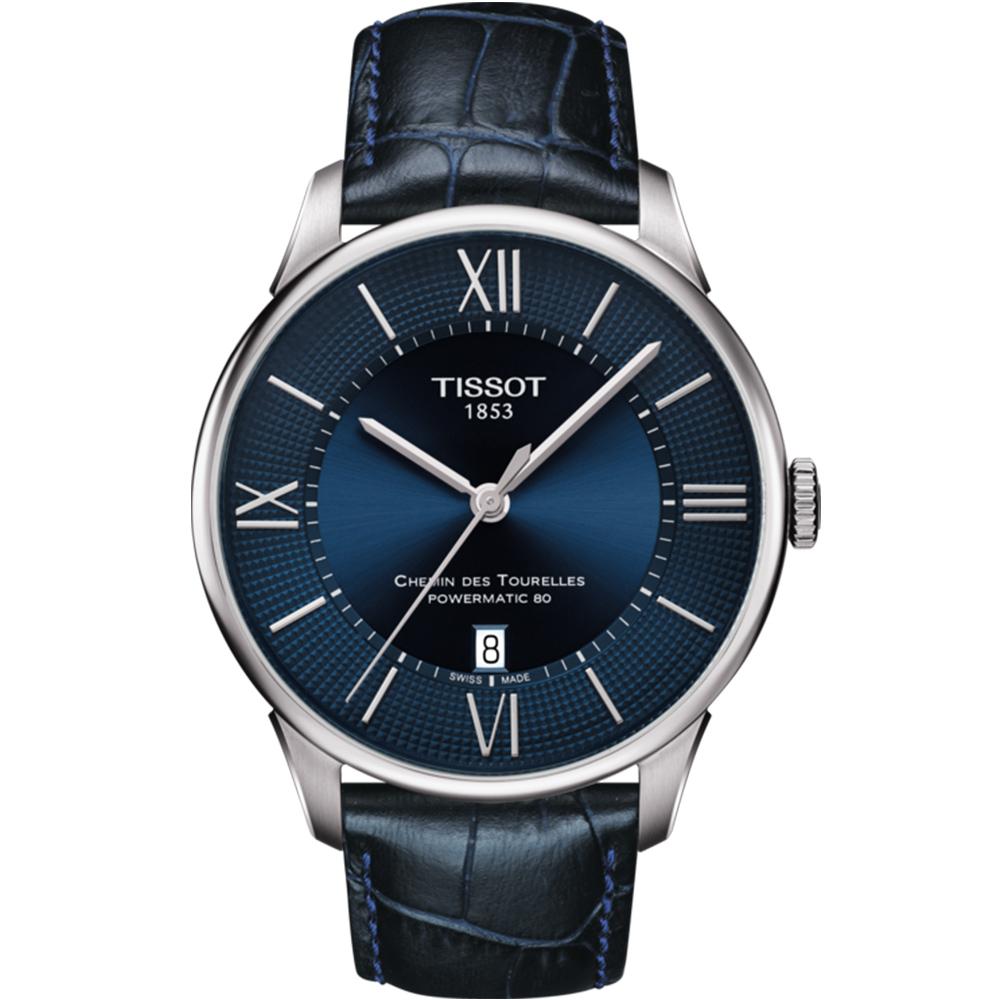 TISSOT天梭 杜魯爾黃曉明動力80H機械腕錶(T0994071604800)-42mm
