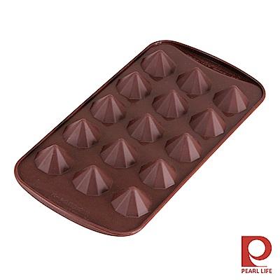 日本Pearl Life Loving15連鑽石巧克力模/冰模-咖啡色