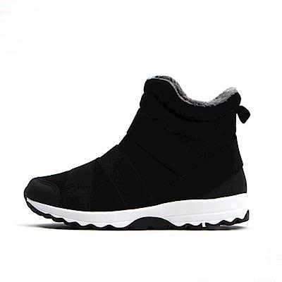 【AIRKOREA韓國空運】正韓潮流雙色彈力拼接運動休閒短靴-黑