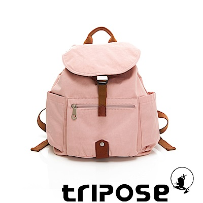 tripose MEMENTO系列微皺尼龍經典輕量後背包(小) 玫瑰粉