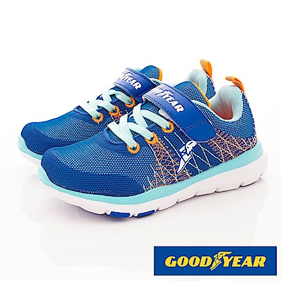 GOODYEAR戶外童鞋 Q彈減壓運動鞋 EI8436藍(中大童段)