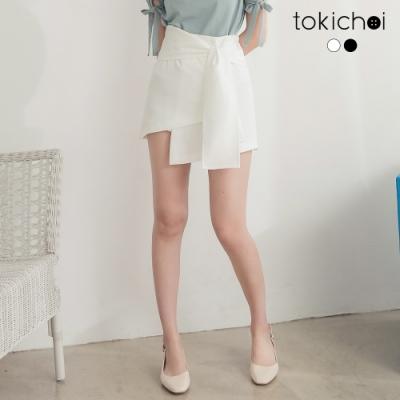 東京著衣 半糖甜心多層次綁帶造型短裙-S.M.L(共二色)