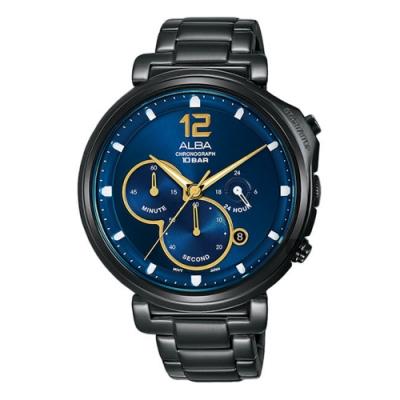 ALBA 雅柏 Tokyo Design 年度限量計時手錶-藍x鍍黑(VD53-X321SD/AT3E21X1)
