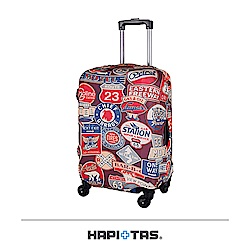 日本HAPI+TAS 行李箱保護套 S-18~22吋 復古勳章