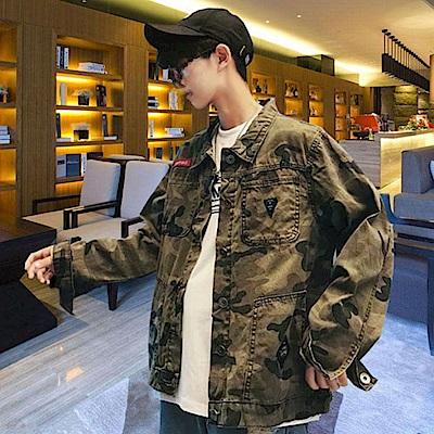 BuyGlasses 情侶多口袋迷彩夾克外套