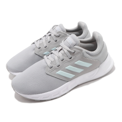 adidas 慢跑鞋 Showtheway 運動 女鞋 愛迪達 輕量 透氣 舒適 避震 路跑 灰 白 FX3751