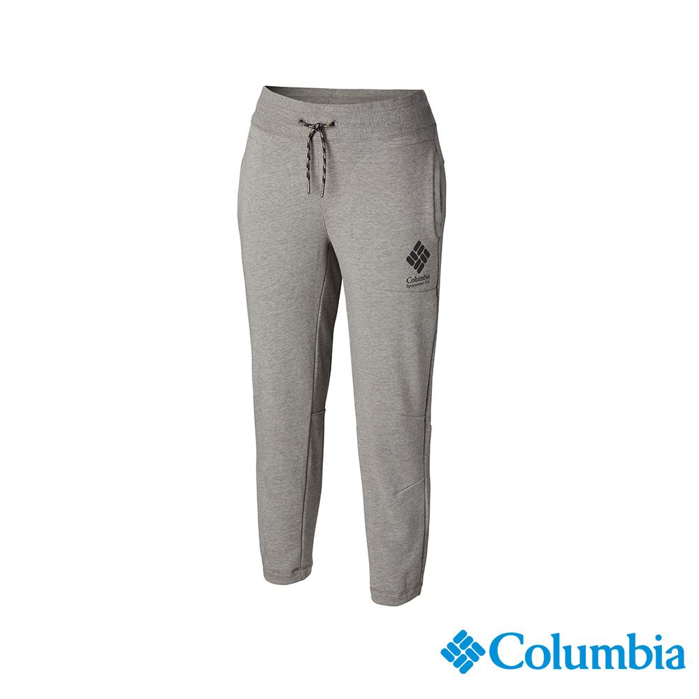 Columbia 哥倫比亞 女款-UPF50 棉質七分褲-灰色 UAR25620GY