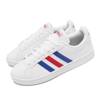 adidas 休閒鞋 Grand Court Base 男鞋 海外限定 愛迪達 復古網球鞋 白 藍 EE7901