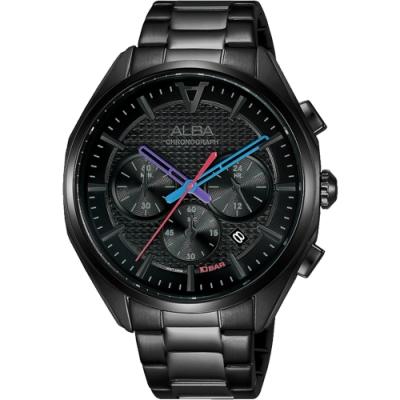 ALBA 雅柏 東京賽車三眼計時手錶-42mm(AT3G99X1/VD53-X366SD)