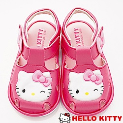 HelloKitty童鞋 淘氣凱蒂嗶嗶護趾涼鞋款 EI19203桃(小童段)