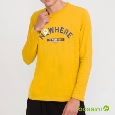 bossini男裝-印花長袖T恤10螢光黃