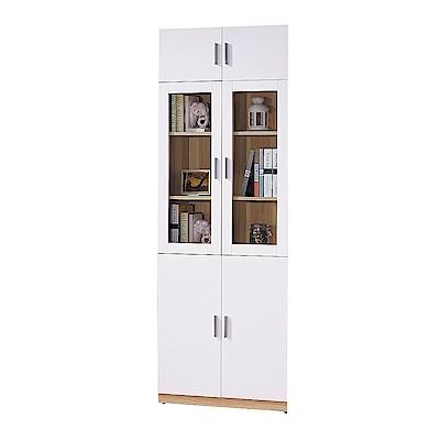 AS-金吉斯<b>2</b>.7尺六門高書櫃-80x32x213.3cm