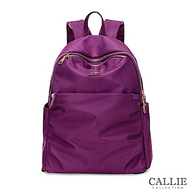 CALLIE 威尼斯系列 大開口尼龍後背包 SanStino 紫