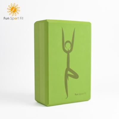FunSport fit-(2入)靜心樹 瑜珈練習磚(60度)瑜伽磚 yoga blocks