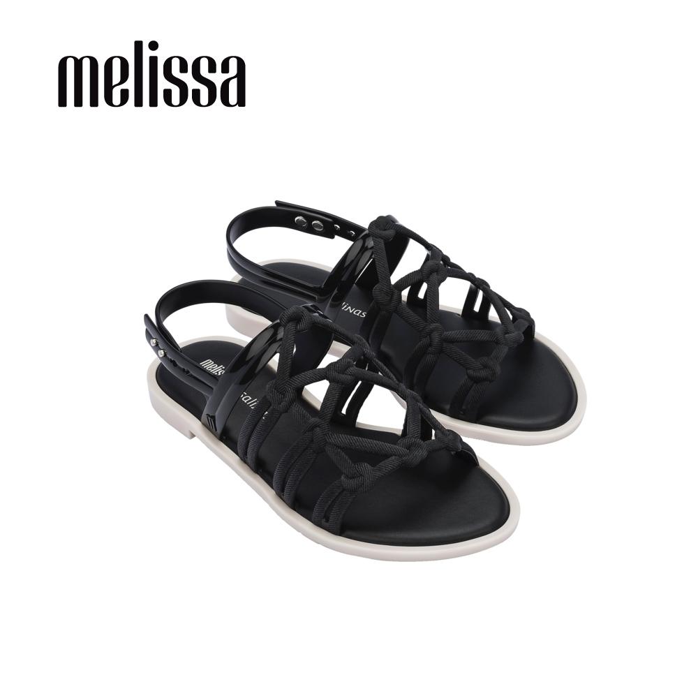 Melissa x Salinas聯名 波西米亞風平底涼鞋-黑