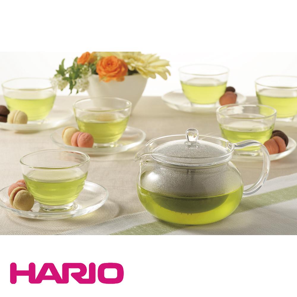 HARIO 茶茶急須禮盒13件組(1壺+6杯+6盤)