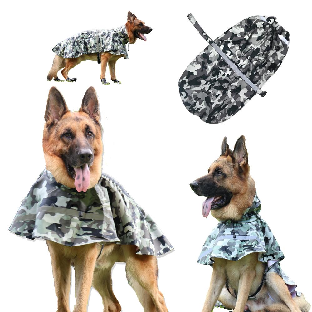 摩達客寵物系列-寵物大狗小狗透氣防水雨衣(迷彩灰/反光條/6種尺寸可選)