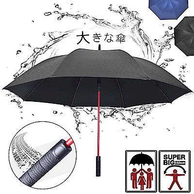 2mm Speed飆風 輪紋握把高爾夫揹帶防風直傘 (黑色)