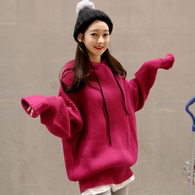 【韓國K.W.】(現貨)寬鬆粗毛線質感針織上衣-1色