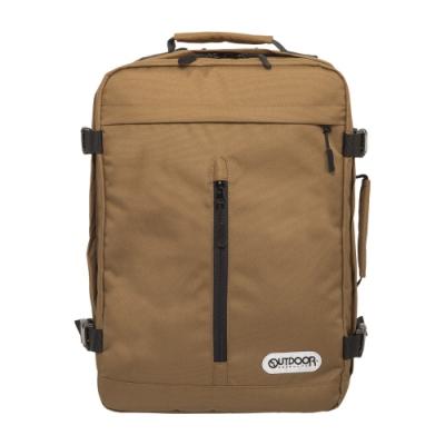 【OUTDOOR】悠遊寰旅-15.6吋後背包-棕色 OD281102BE