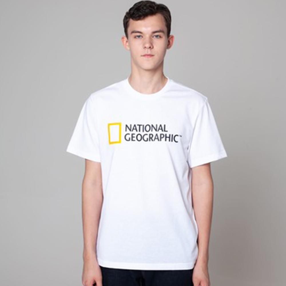 NATIONAL GEOGRAPHIC 中性  短袖上衣 白色-N195UTS020010