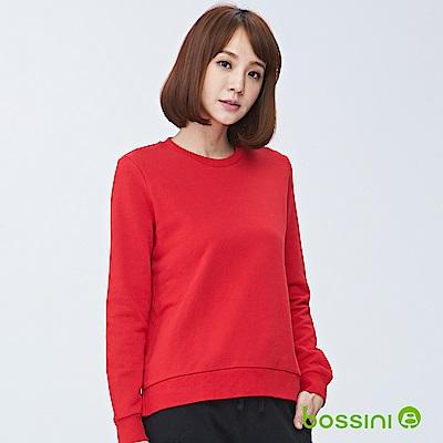 bossini女裝-圓領厚棉T恤01珊瑚色