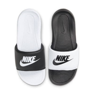 NIKE VICTORI ONE SLIDE MIX 女拖鞋-黑白 陰陽-DD0228100