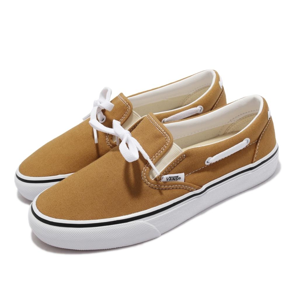 Vans 休閒鞋 V198CF Calm Lacey 女鞋 懶人鞋 街頭文化 支撐 抓地 耐磨 土黃 白 6014920003