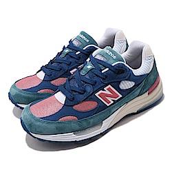 New Balance 休閒鞋 M992NTD USA 復古 男鞋 紐巴倫 麂皮 N字鞋 美國製 潮流穿搭 藍 粉 M992NTD